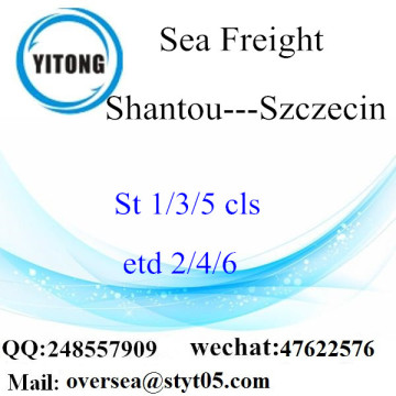 Shantou Port LCL Consolidation to Szczecin