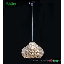 One Chandelier Light Beaded Design Éclairage pendentif en cristal blanc