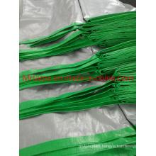 Waterproof Silver-Green Polythylene Tarpaulin
