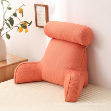 Amazon hot-sale linen pearl cotton bed reading cushion pillow