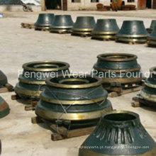 OEM Mesto / Symons / Telsmith / Kpi-Jci / Pegson, Mccloskey / Extec, peças elevadas do triturador do cone do aço de Manganese de Fintec