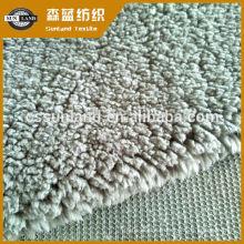 100 poliéster sherpa tecido de lã para inverno com capuz
