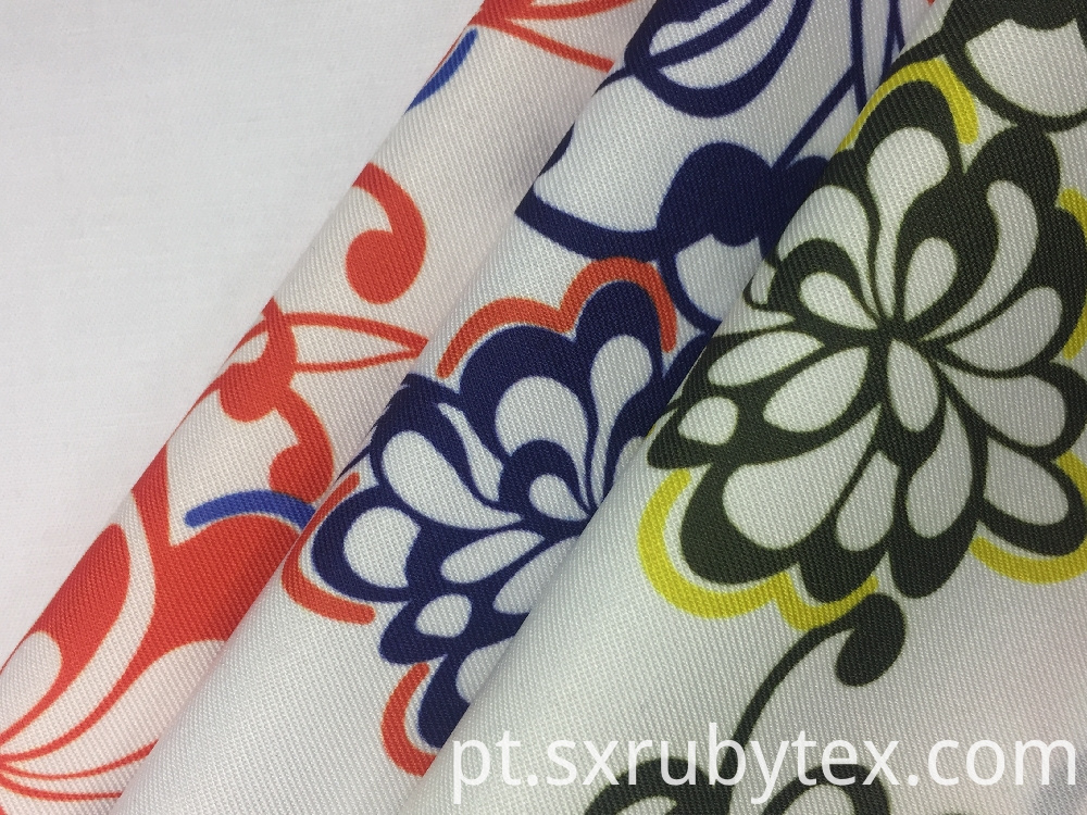 Polyester Spandex Twill Print Fabric