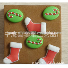 Lovely Christmas stockings cork board pins