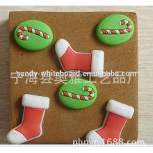 Abóboras bonitos da cortiça das meias do Natal Pins
