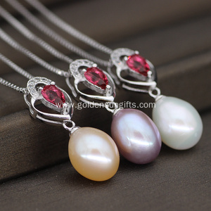 New Design Single Freshwater Pearl Pendant Necklace