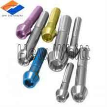perno de cabeza cónica de titanio colorido DIN934