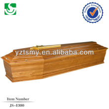 madeira de lariço com Cruz de ouro para o caixão de Europa