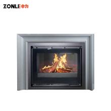 ZLR18 Manufacture European Style Cast Iron Insert Wood Fireplace