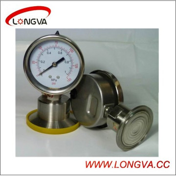 Manomètre de pression sanitaire en acier inoxydable