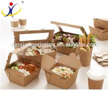 Faltbarer wegwerfbarer Wegwerf chinesischer Nahrungsmittelverpackungskasten, Nahrungsmittelverpackungskasten, freie Proben