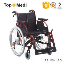Prix bon marché fauteuil roulant pliable en aluminium confortable pour les personnes handicapées
