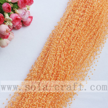 Orange artificielle Imitation en plastique perle rose tailler les brins perlés