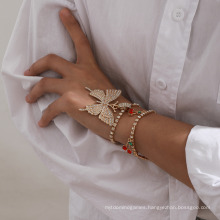 Fashionable Newest Commodity Diamond Claw Bracelet with Butterfly Cherry Bracelet for Women