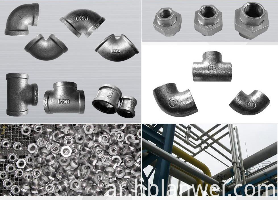 malleable iron pipe fitting details