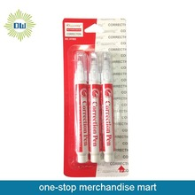3PCS metal tip correction pens with blister card package
