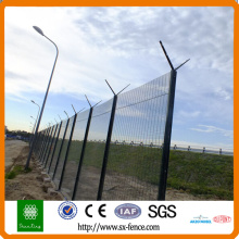 galvanized+powder coated 358 wire mesh fence