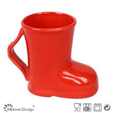 Tasse de bottes rouges en céramique de 14oz