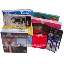 Impresión personalizada de papel corrugado cajas de embalaje plegables