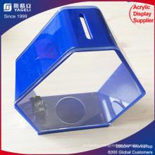 Cheap Plexiglass Transparent Green Donation Box with Lock