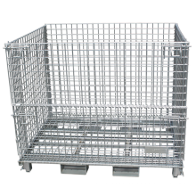 wire mesh pallet cage Wire mesh storage secure cage pallet container for warehouse Storage Wire Mesh Container