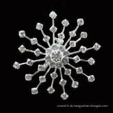 Hochzeit billig Sonnenblume Bouquet Frauen Großhandel Nachahmung Perle Rhinestone Brosche