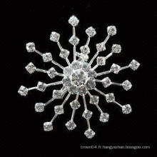 Mariage bon marché bouquet de tournesol femme gros imitation perle strass broche