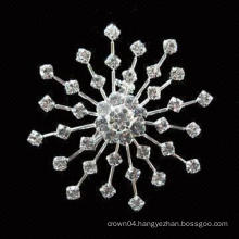 wedding cheap sunflower bouquet women wholesale imitation pearl rhinestone brooch