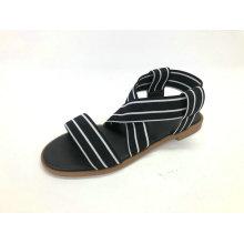 Sandale pour femme avec tige élastique