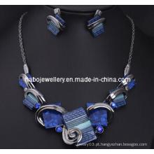 Conjunto de jóias de pedra grande / moda jóias set (xjw13203)