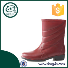 Shugxin pvc rain boots ladies wedge shoes B-808
