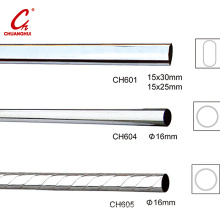 Round Chrome Curtain Iron Steel Pipe Tube Pole Rod (CH601)