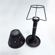 Punched Star Metal Remote Control Candle Holder and Shade