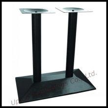 Base de mesa de ferro fundido de coluna dupla preta (SP-MTL147)