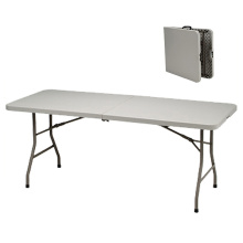 HDPE plastic white dining steel frame tables folding picnic table