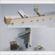 Proyectos de decoración de hotel pista de cortina de aleación de aluminio / cortina de riel