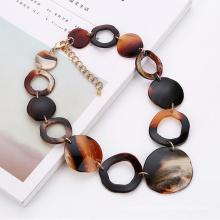 Manufacturer ODM boho Short choker chain necklace for women fashion custom acrylic necklace
