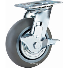 Heavy Duty Double Ball Bearing TPR Castors