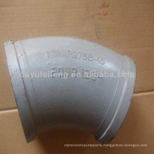 ST52 long radius bend DN100*R1000 60D Concrete Pump elbow