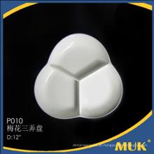 Manufatura de Viagem fina personalizada cerâmica rodada pequena placa
