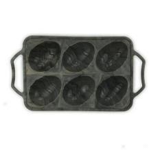 6-Cavity Half Egg Marbling Silicone Mold