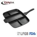 Mala Direta Die Cast Alumínio grelha quadrada pan 3 in1 grelha mesa pan 5 em 1 grelha mesa pan