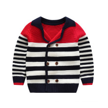 Korean Style Winter Woolen Child Sweater Designs Kids Boys Fancy Knitted Cardigan Sweater