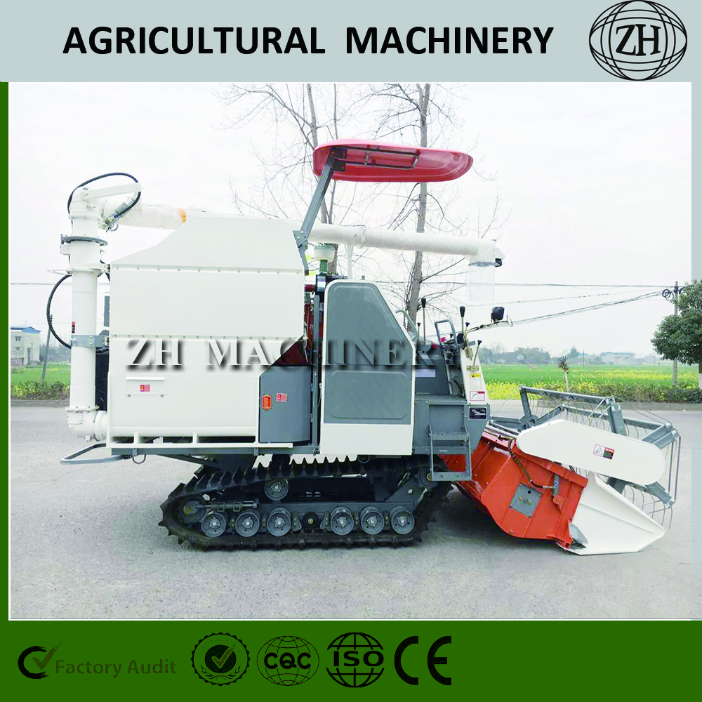 Rubber Track Wheat Combine Harvester 4LZ-5.0