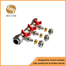 Underfloor Heating Highlight Butterfly Handle Water Brass Manifold