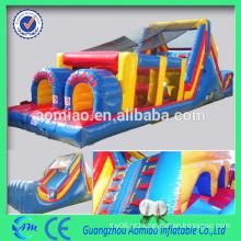 Curso de obstáculo inflável personalizado mais recente curso de obstáculo inflável adulto barato à venda