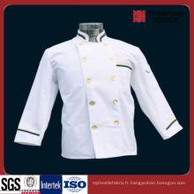 Polyester populaire / coton 65/35 Tissu de chef