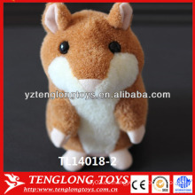 Hamster en forma de mini grabadora de voz de juguete