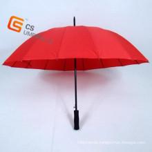Red Color Golf Straight Umbrella (: YS-G1004A)