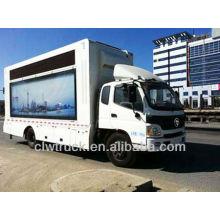 O caminhão de Foton do preço de fábrica conduziu, p10 conduziu o caminhão móvel do estágio para a venda